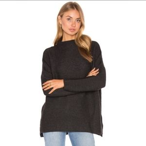 Knot Sister Charcoal boxy sweater Small